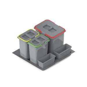 Kosz wstawiany do szuflady potrójny Praktiko 60 (front 60cm)